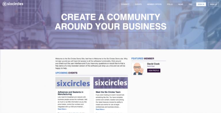 Six Circles demo site